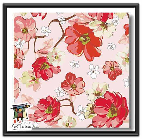 ARTomo【アトモ】パズル油絵『国内発送|フレーム付き』数字 油絵 DIY パズル塗り絵(ぬりえ) 本格的な油絵が誰でも簡単に楽しく描ける 20x20cm (春の花)