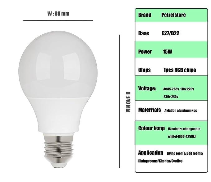 Ir 360 Faisceau Lampe Led Lumière Ampoule Rgb Télécommande ° De E27 Magicmoon Angle Dimmable Changeantes 15w Multicolore Avec 16 Couleurs Wb92eEDHIY