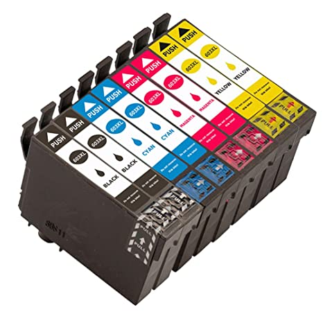 Caidi - Juego de 8 Cartuchos de Tinta para Epson Expression Home ...
