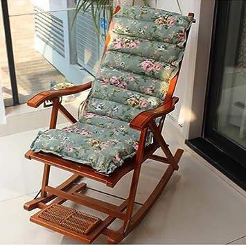 Cojines para sillas de Exterior Sillas de Balcón Tumbona Asiento Mecedora Cojin para sillón de Relax Tumbona de jardín o terraza (Tamaño: 125X49X7CM, sin Silla): Amazon.es: Deportes y aire libre