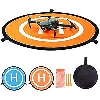 CYH Drone Landing Pad, 55 cm / 22'' Przenośne składane pady Landing Pads, drony, uniwersalne składane dron miejsce do…