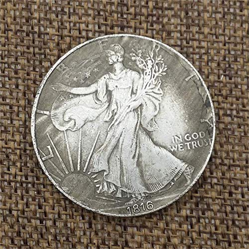 MarshLing Best Morgan US Dollars-1816 Old Handmade Coin Collecting-US Dollar USA Old Pre Morgan Dollar-It's Handmade ()