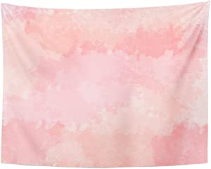 Emvency Tapestry Colorful Abstract Light Pink Blush Coral Digital Watercolor Red Floral Color Home Decor Wall Hanging for Living Room Bedroom Dorm 60x80 inches