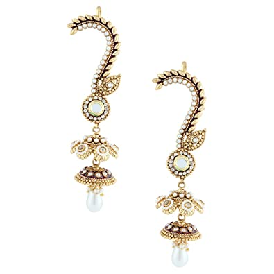 Buy Gold More Ear Cuff Jhumka Earrings Online At Low Prices In