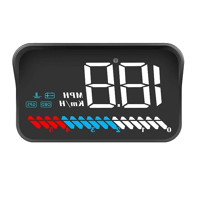 Amazon.com: Car HUD OBD2 GPS Speedometer Tachometer Head Up ...