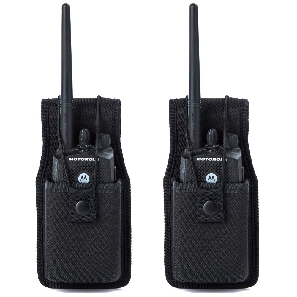 Universal Radio Case Two Way Radio Holder Universal Pouch for Walkie Talkies Nylon Holster Accessories for Motorola MT500, MT1000, MTS2000 and Similar Models by Luiton(2 Pack)