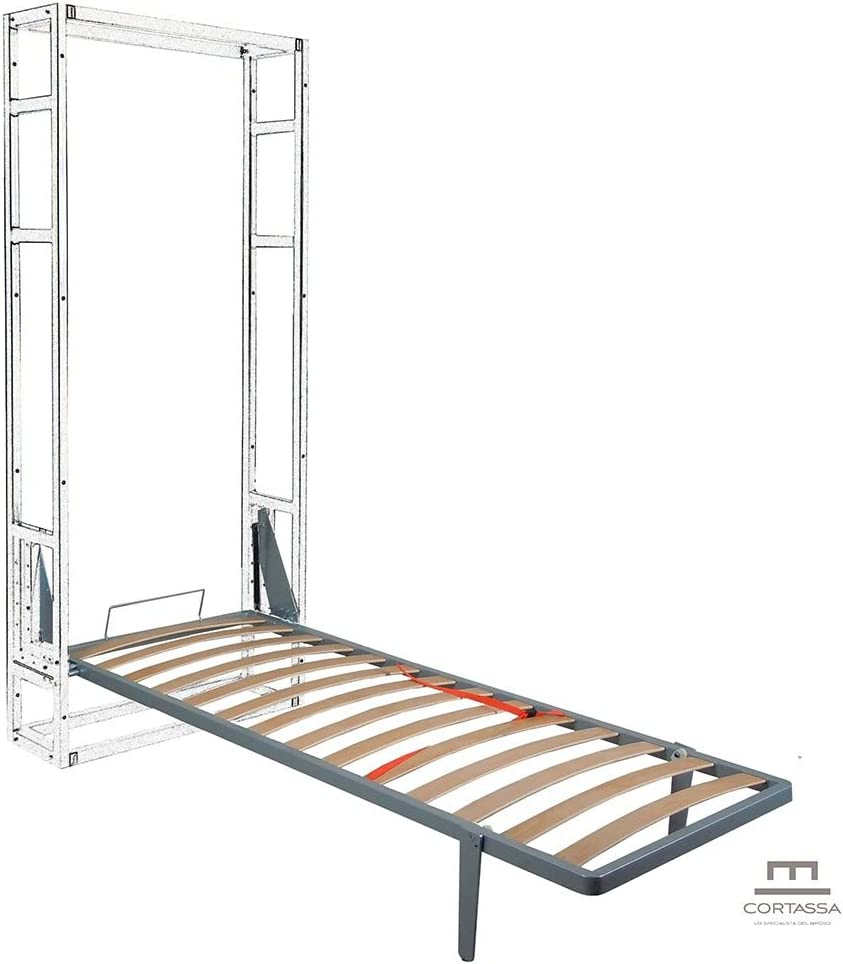 CORTASSA Cama abatible para ahorrar espacio, de pared, tipo «Maly», 80 x 190 cm