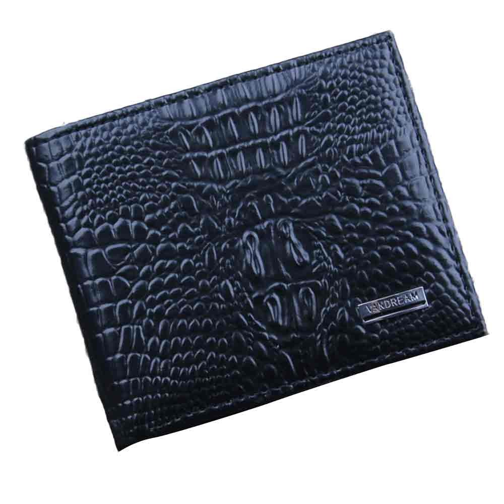 Baomabao Men Leather Wallet ID Credit Card Holder Bifold Business Purse