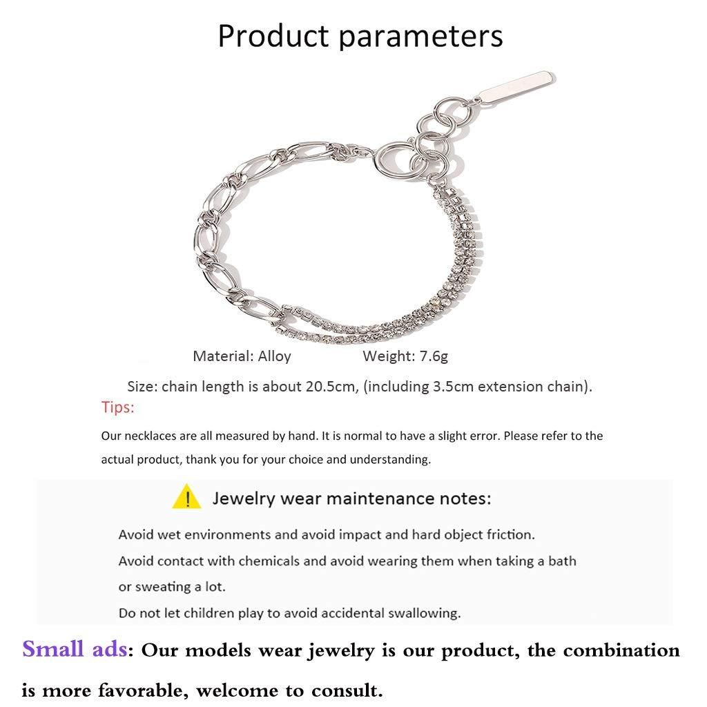Amazon.com: Charm Bracelets Joyas Pulseras Accesorios De Muñeca Términos De La Cadena De Costura Diseño Limitado Con Colgante Pulsera Femenina Estilo Fresco ...