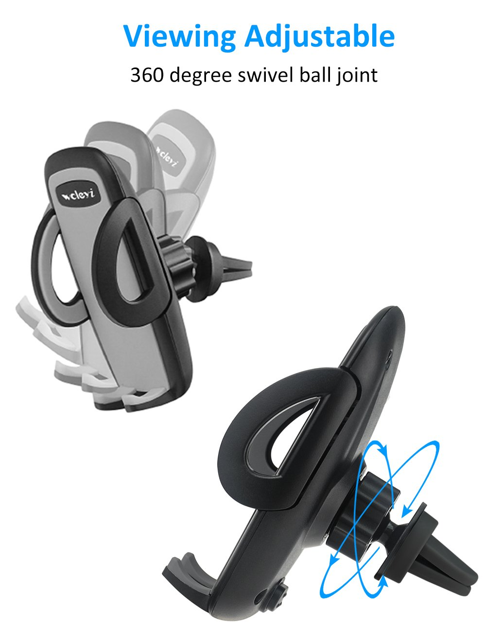 woleyi Car Vent Mount Air Vent Clip - Car Holder for Cell Phones and GPS by woleyi (Image #5)