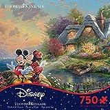 Thomas Kinkade Disney Dreams - Mickey & Minnie 750 Piece Jigsaw Puzzle 24 x 18in