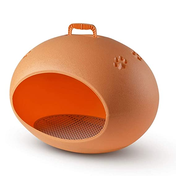 Cama de perro Perrera de plástico para perros, a prueba de viento lavable, resistente a la lluvia, desmontable, fácil Limpiar Mantener caliente, gato, ...