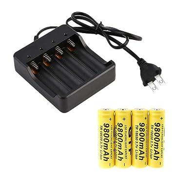 Amazon.es: Skryo_ Bateria y Juguetes Skryo👍👍 4X 18650 3.7V ...