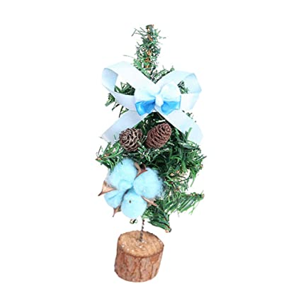 polytree mini christmas tree desk top table top ornament decorations xmas gift holiday party favourite blue - Polytree Christmas Tree