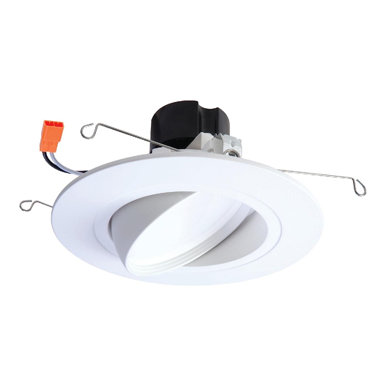 "HALO RA5606927WHR 90 CRI -2700K RA Integrated LED Recessed Adjustable Gimbal Downlight Trim, 5"" & 6"", White"