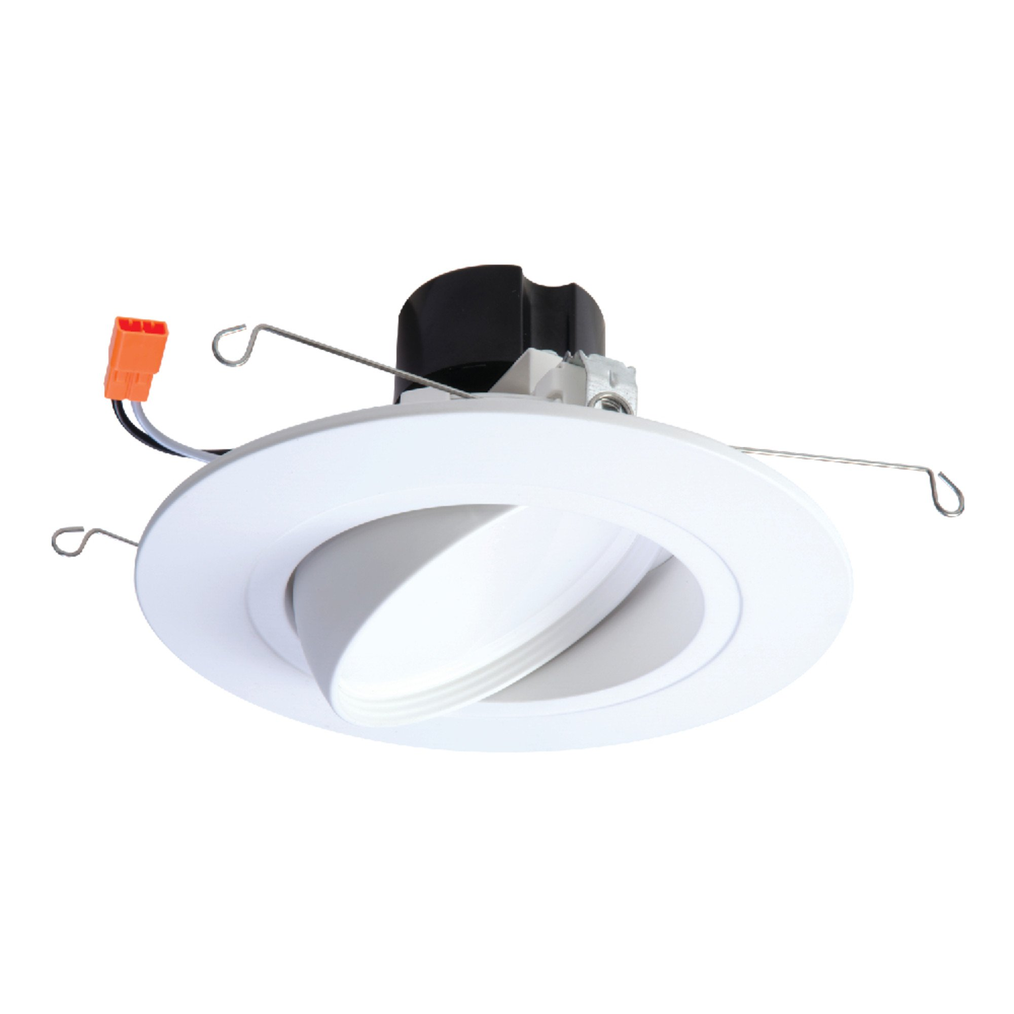 HALO RA5606927WHR 90 CRI -2700K RA Integrated LED Recessed Adjustable Gimbal Downlight Trim, 5'' & 6'', White