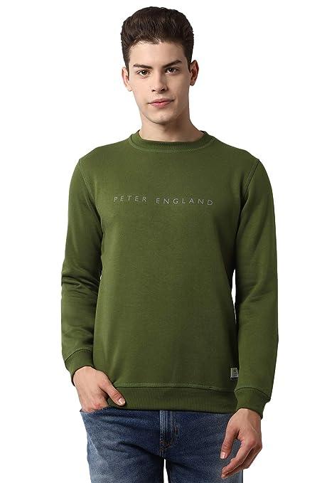 [Size M] Peter England Men's Blouson Cotton Sweatshirt