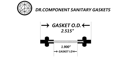 Black Viton,2 Pcs Per Bag for 2 Inch Tri-Clover Or Tri-Clamp Fittings DR-COMPONENT Sanitary Tri-Clamp Gaskets Bonded Type Screen Mesh #20 Gaskets