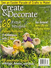 Create and decorate april 2008 issue editors of create for Create and decorate magazine free