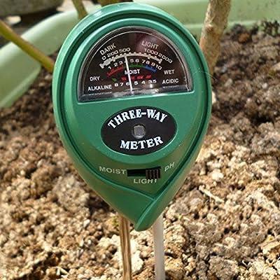 3 in1 Plant Flowers Soil PH Tester Moisture Light Meter