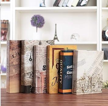 STSJSI Decoración de libros falsos Serie inglesa libro decorativo ...