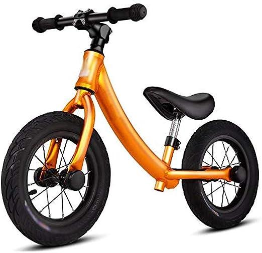 WENZHEN Bicicleta para niños,Balance Bike Aleación de Aluminio sin Pedal Walking Balance Bike Bicicleta de Entrenamiento para niños y niños pequeños de 2 a 6 años Azul @ Dorado: Amazon.es: Hogar