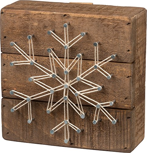 Primitives by Kathy Christmas-Themed String Art, Snowflake (Snowflake Gift)