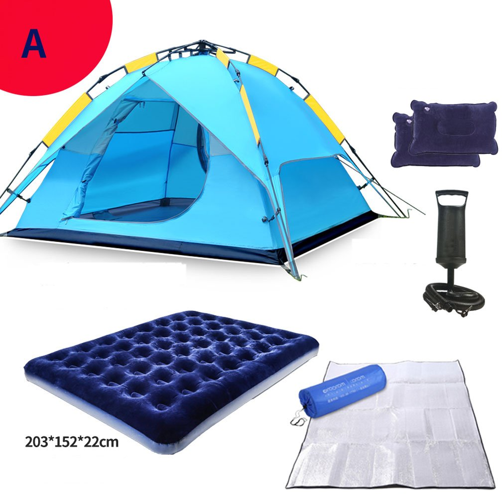 Unbekannt XQQQ - Hydraulische Kuppel Zelt Überdachung Für Camping Automatische Wasserdichte Hydraulische Zelte 3-4 Person Überdachung Einfach Zu Installieren (Zelt-Set)