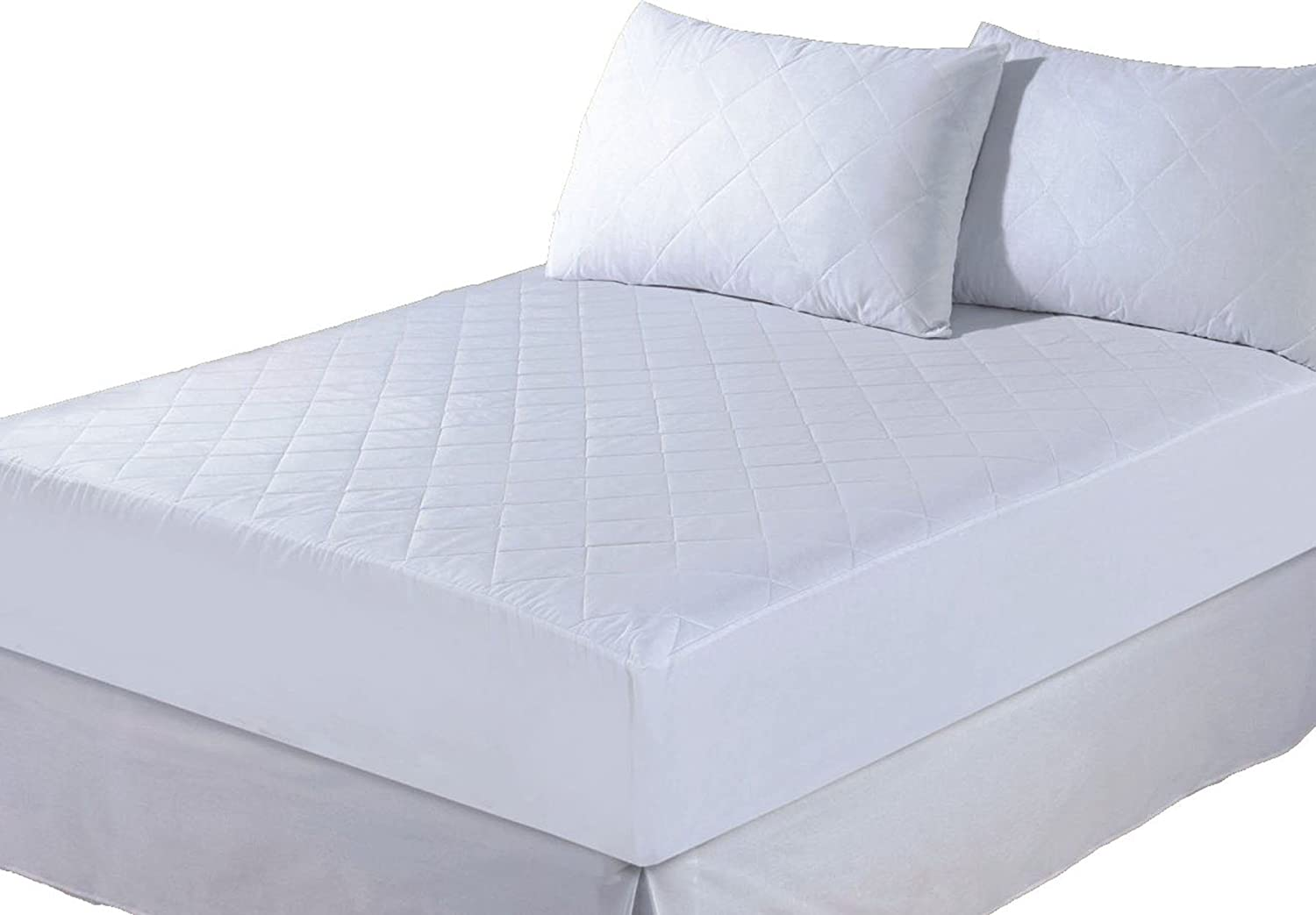 fitted mattress protector. Luxury 4FT Double Quilted Mattress Protector Fitted Sheet Bed Cover: Amazon.co.uk: Baby E