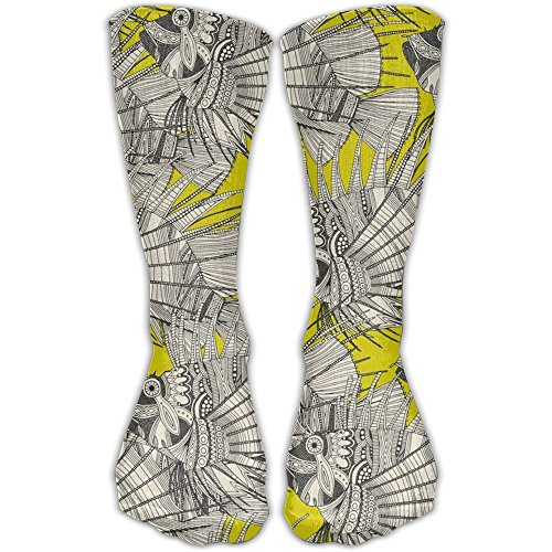 Klnsha7 Fish Mirage Chartreuse Compression Socks For Wome And Men,