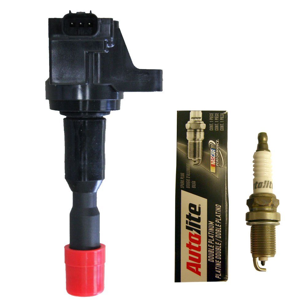 Amazon.com: Set of (1) Heavy Duty Ignition Coil + (1) Autolite Double Platinum Spark Plug For Honda Fit 2009-2014: Automotive