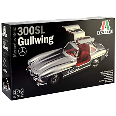 Italeri 3612S 3612S-1:16 Mercedes-Benz 300 SL Gullwing, Model Building, Building kit, Stand Model Making, Crafts, Hobby, Gluing, Plastic kit, unpainted: Toys & Games [5Bkhe0306089]