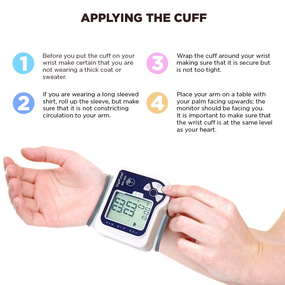 amazon com blood pressure cuff wrist monitor automatic digital