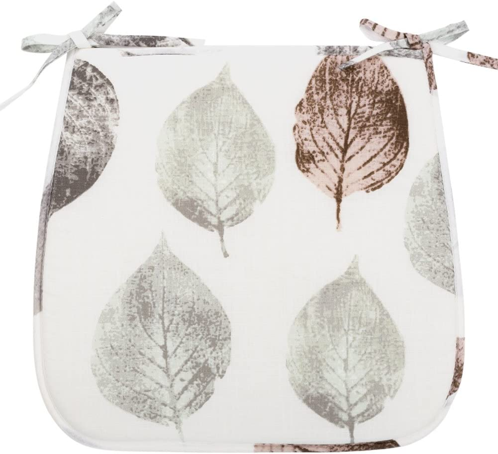 XXZUO Floral Chair Cushion,Car seat Cushion for Home Office Vehicles Tatami Indoor Outdoor Breathable Chair Pads-A 42x45cm(17x18inch)