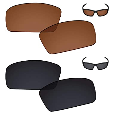 5e158be3cc Galvanic Replacement Lenses for Oakley Canteen 2006 Sunglasses - Amber +  Black Polarized - Combo Pack