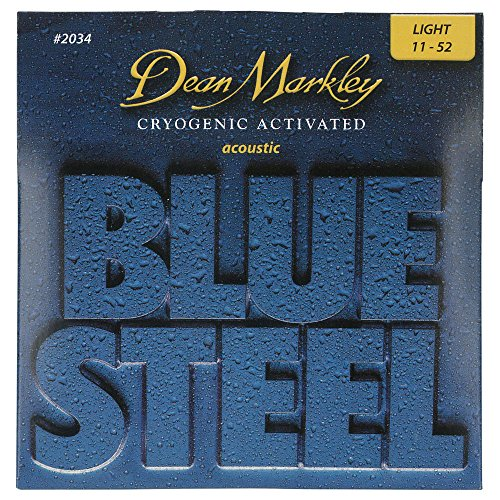 Dean Markley Blue Steel Cryogenic Activated Acoustic Strings, 11-52, 2034, Light