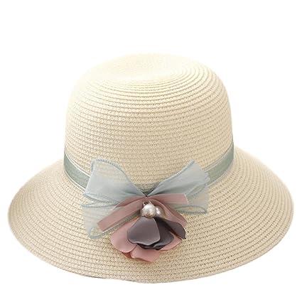 Youkara Sombrero de paja de verano para niñas 56d62fdf6482