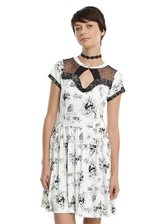 fa98d9b3e535f Disney Princess White   Black Toile Print Dress at Amazon Women s Clothing  store