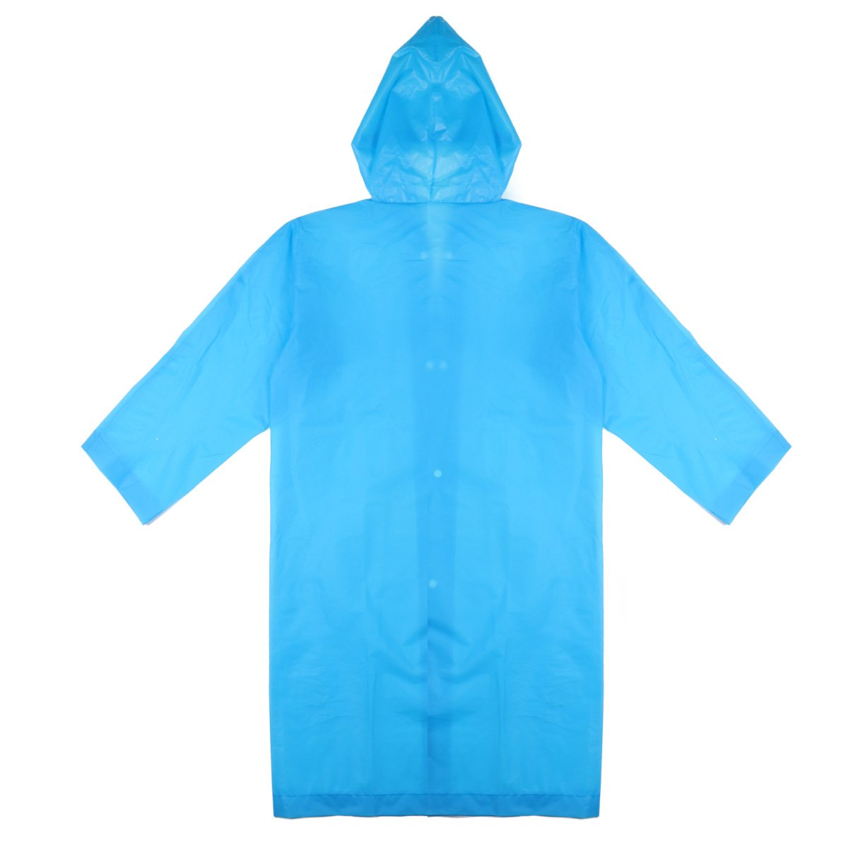 2pcs Kids Rainy Snowy Outdoor Backpack Cover Rain Ponchos Raincoat with Hood and Sleeves