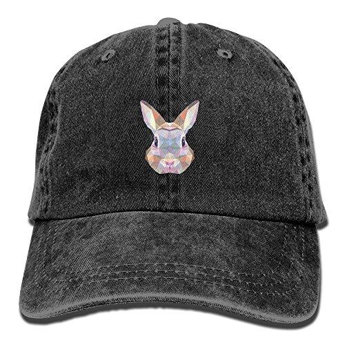 Geometric Rabbit Bunny Adult Sport Adjustable Baseball Cap Cowboy Hat
