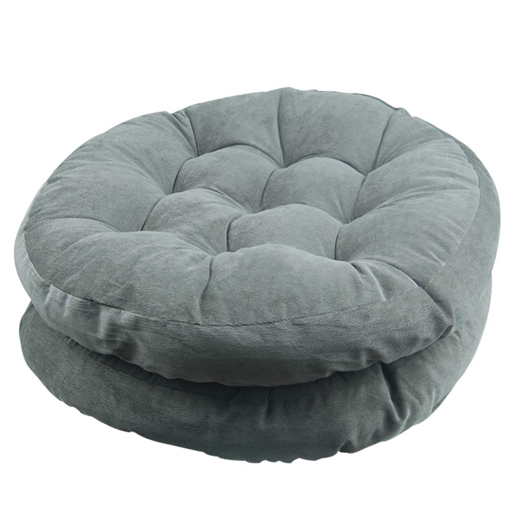 Tiita Solid Papasan Patio Seat Cushion Round Chair Pad Home Floor Cushion 22 Inch Set of 2 Throw Pillows Indoor Outdoor Grey