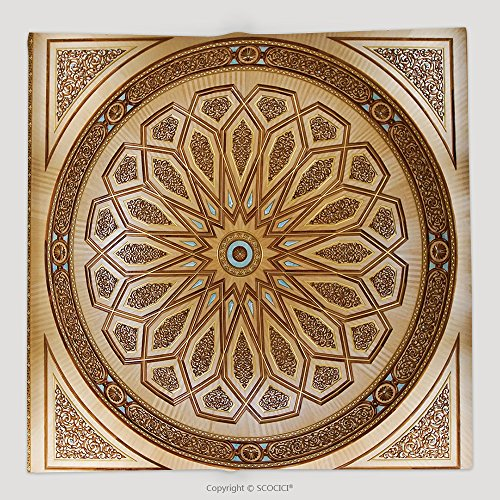 Custom The Interior Of Decorative Ceiling Mounted Light Fixture Taken On February In The Nabawi 540161395 Soft Fleece Throw Blanket Ceiling Fixture Dark Spice
