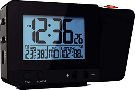 Think Gizmos Reloj Digital Atómico Proyector Led con Medidor de Temperatura - TG644 - Reloj Despertador Digital con Reloj Proyector Pared o Techo -2 ...