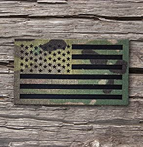 3.5x2 Inch Infrared Multicam (OCP) Ir reflective Us Flag Patch Us Army Special Forces Green Beret CAG