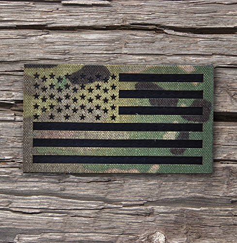 3.5x2 Inch Infrared Multicam (OCP) Ir reflective Us Flag Patch Us Army Special Forces Green Beret - Usa Ir