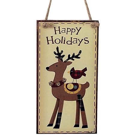Amazon.com: Aurorax Indoor and Outdoor Wood Holiday Christmas ...