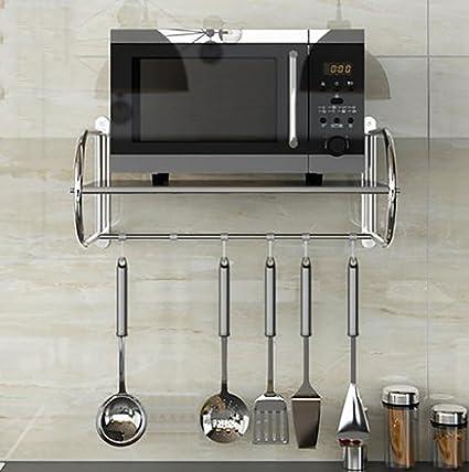 YANZIFEI 1 historia 201 acero inoxidable cocina Bandeja de almacenamiento, Instalación montada en la pared