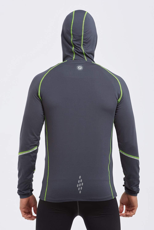 Giacca Termica da Uomo da Corsa con Zip e Cappuccio Thermo Running
