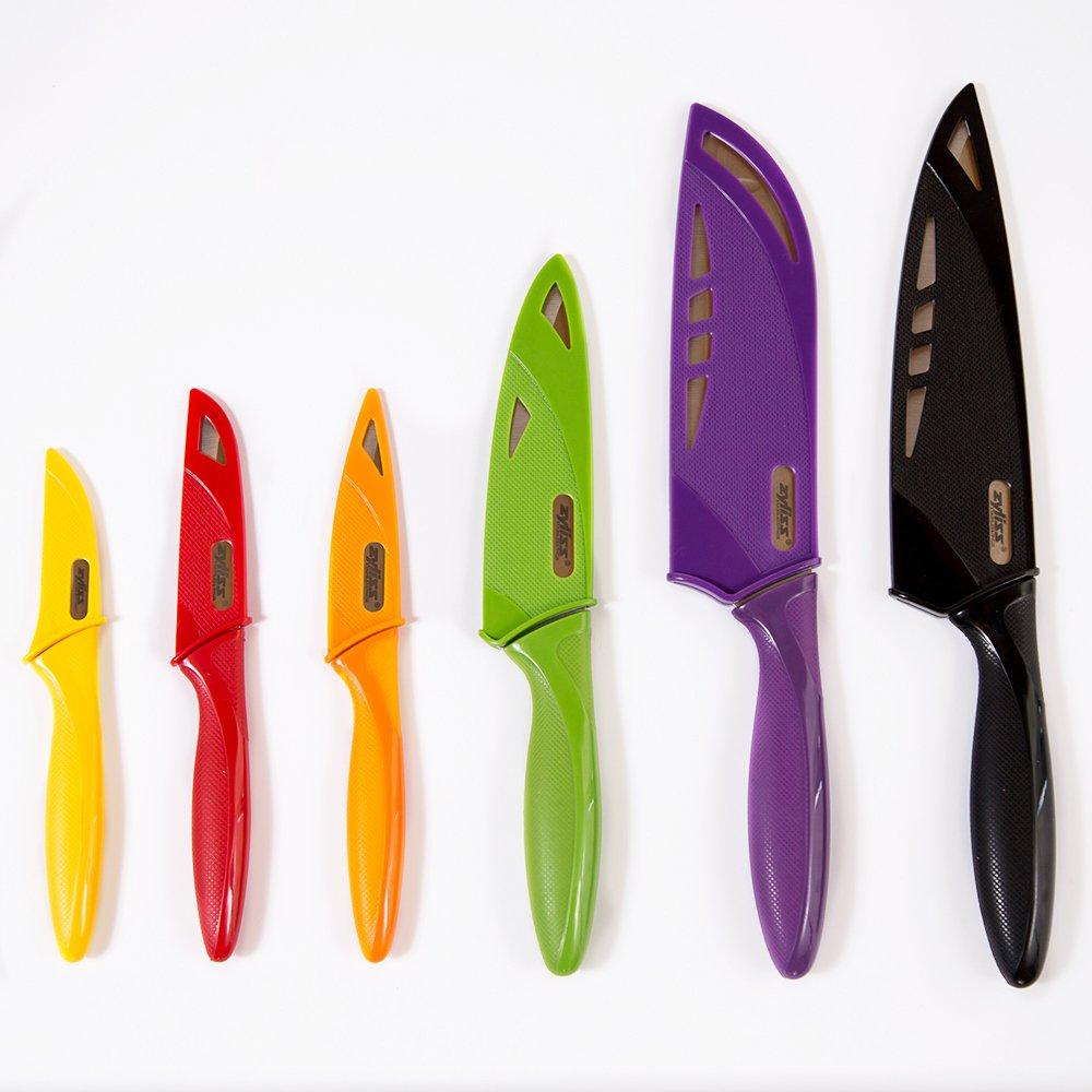 Amazon Com Zyliss 6 Piece Kitchen Knife Set With Sheath Covers
