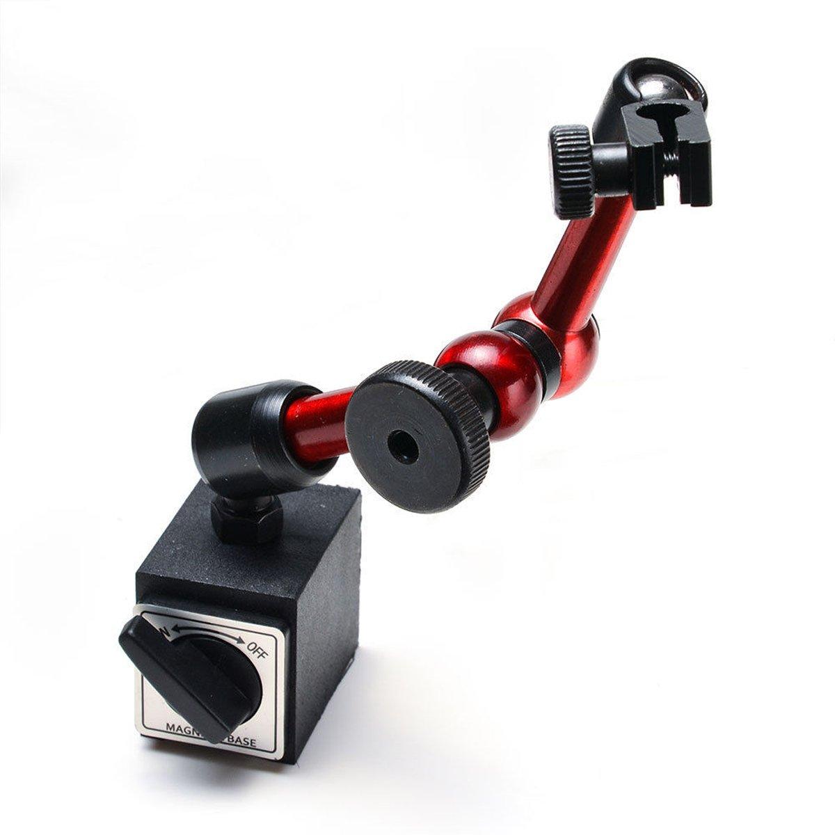 TraderPlus Magnetic Base Adjustable Metal Test Indicator Holder for Digital Dial Indicator
